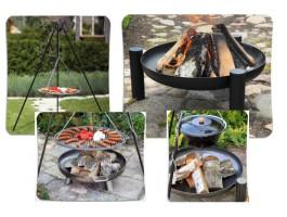 Schwenkgrills, Feuerschalen und Gulaschkessel